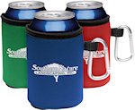 Collapsible KOOZIE R Can Coolers With Carabiners